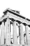 在希腊老建筑学和历史地方帕台农神庙在 免版税库存照片