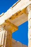 在希腊老建筑学帕台农神庙 库存照片