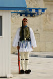 在希腊议会的总统护卫队 免版税库存图片