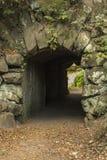 在希顿公园,曼彻斯特的步行隧道 库存图片