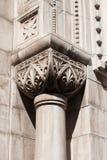 在希贝尼克大教堂的石专栏 免版税库存照片
