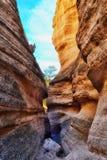 在帐篷岩石的一个峡谷在Kasha Katuwe 库存图片