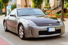 在帕兰加炫耀小轿车汽车日产350z 免版税库存照片