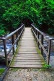 在帕劳瀑布的桥梁在泰国 免版税库存图片