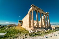 在帕台农神庙雅典卫城考古学Plac的Erechtheion 库存图片