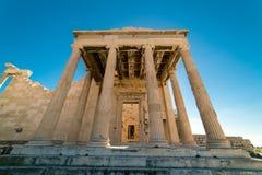 在帕台农神庙雅典卫城考古学Plac的Erechtheion 免版税库存照片