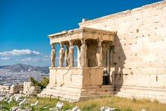 在帕台农神庙雅典卫城考古学Plac的Erechtheion 免版税图库摄影