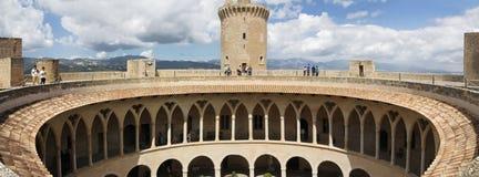在帕尔马的Bellver城堡,马略卡,西班牙 免版税库存图片