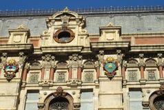 在帕拉西奥de Aguas科连特斯的太阳标志在布宜诺斯艾利斯 库存图片