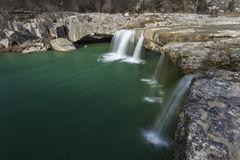 在帕津,克罗地亚附近的瀑布 库存图片