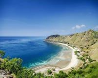 在帝力东帝汶亚洲附近的热带天堂cristo rei海滩 图库摄影