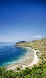 在帝力东帝汶亚洲附近的热带天堂cristo rei海滩 免版税库存照片