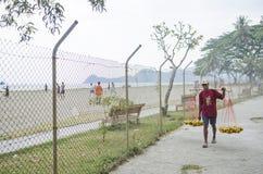 海岸视图在帝力东帝汶 免版税库存照片