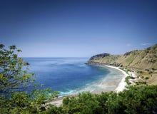 在帝力附近的海岸和海滩视图东帝汶leste的 免版税库存图片