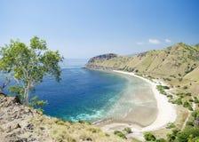 在帝力附近的海滩和海岸在东帝汶 免版税图库摄影