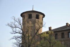 在帝堡城广场的马达马宫塔在托里诺 库存照片