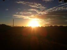 在帝汶海岛的日出 库存照片