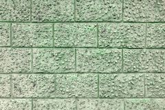 在干净一块大的砖下的装饰膏药 库存例证