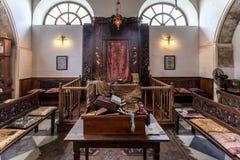 犹太教堂在干尼亚州,克利特,希腊 库存图片