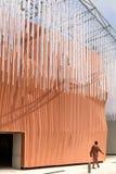 在干旱的区域的装饰使#01,商展2015年米兰成群 库存照片