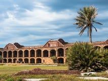 在干燥Tortugas的有历史的堡垒杰斐逊 库存照片
