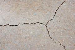 在干陆破裂的地球背景的纹理 库存图片