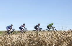 在平原-环法自行车赛的脱离2016年 图库摄影