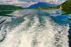 在平安的湖的泡影 免版税库存图片