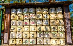在平安神宫的缘故桶在京都 库存照片