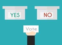 在平的样式的投票的概念 图库摄影