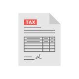 在平的样式的报税表象,隔绝与白色背景 图库摄影