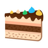 在平的样式的甜蛋糕 免版税库存图片