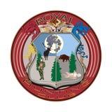 在平的样式的皇家狩猎俱乐部徽章传染媒介例证 免版税库存图片