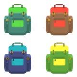 在平的样式的背包 免版税图库摄影