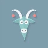 在平的样式的滑稽的山羊 库存照片