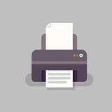 在平的窗框的办公用打印机 免版税库存图片