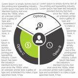 在平的设计的企业infographic圈子 您的选择或步的布局 背景的抽象样式 皇族释放例证