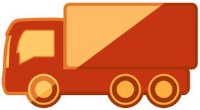 在平的设计的被隔绝的卡车 图库摄影