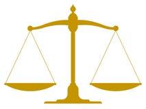 在平衡和平衡的葡萄酒标度 免版税库存图片