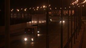 在平衡的录影的繁忙的特大的城市高速公路 影视素材