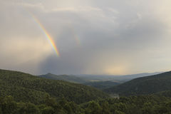 在平衡风暴以后的Shenandoah Nationa公园 图库摄影