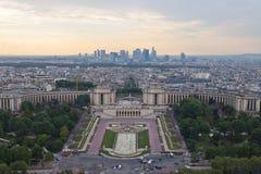 在平衡巴黎的看法 库存照片