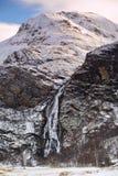 在幽谷尼维斯岛的Steall瀑布在苏格兰高地 库存图片