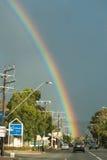 在幽谷Osmond路,南澳大利亚的彩虹 免版税库存图片