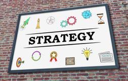 在广告牌的战略概念 库存例证