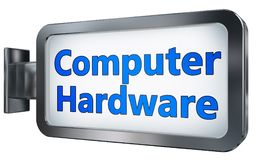 在广告牌的计算机硬件 库存例证