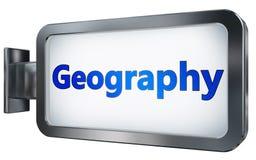 在广告牌背景的地理 库存例证