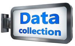 在广告牌背景的搜集数据 皇族释放例证