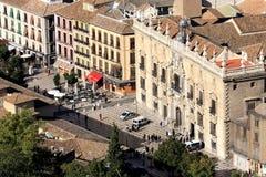 在广场格拉纳达,西班牙圣塔安那的视图  免版税图库摄影