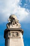 在广场西班牙,马德里的西万提斯纪念碑 免版税库存图片